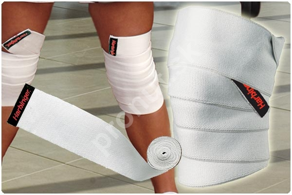 how to put on harbinger knee wraps